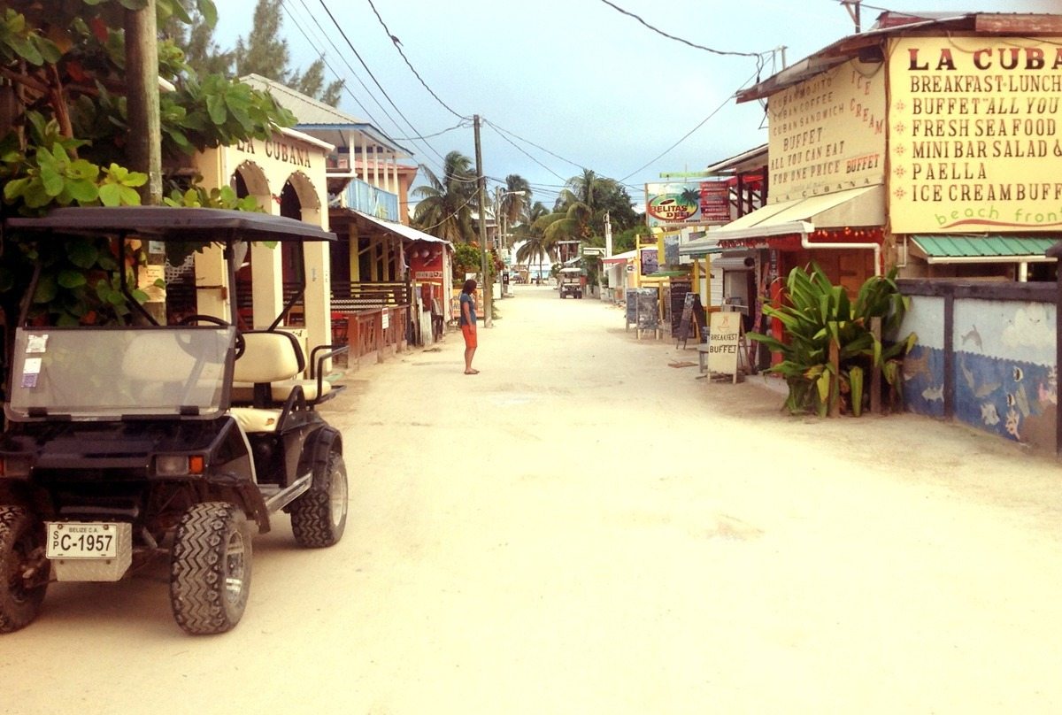 Typical Caye Caulker street scene