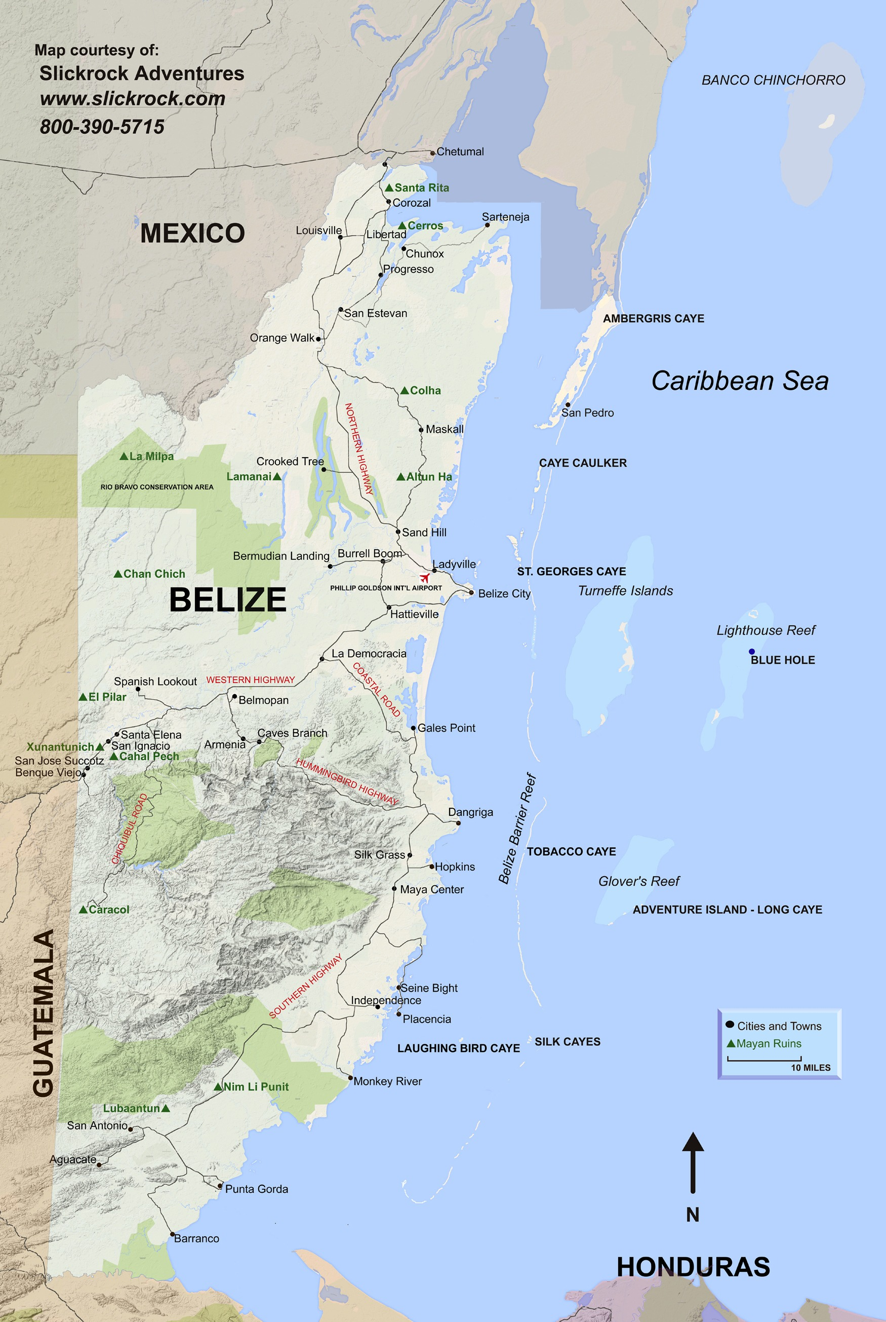 Belize Mayan ruins map