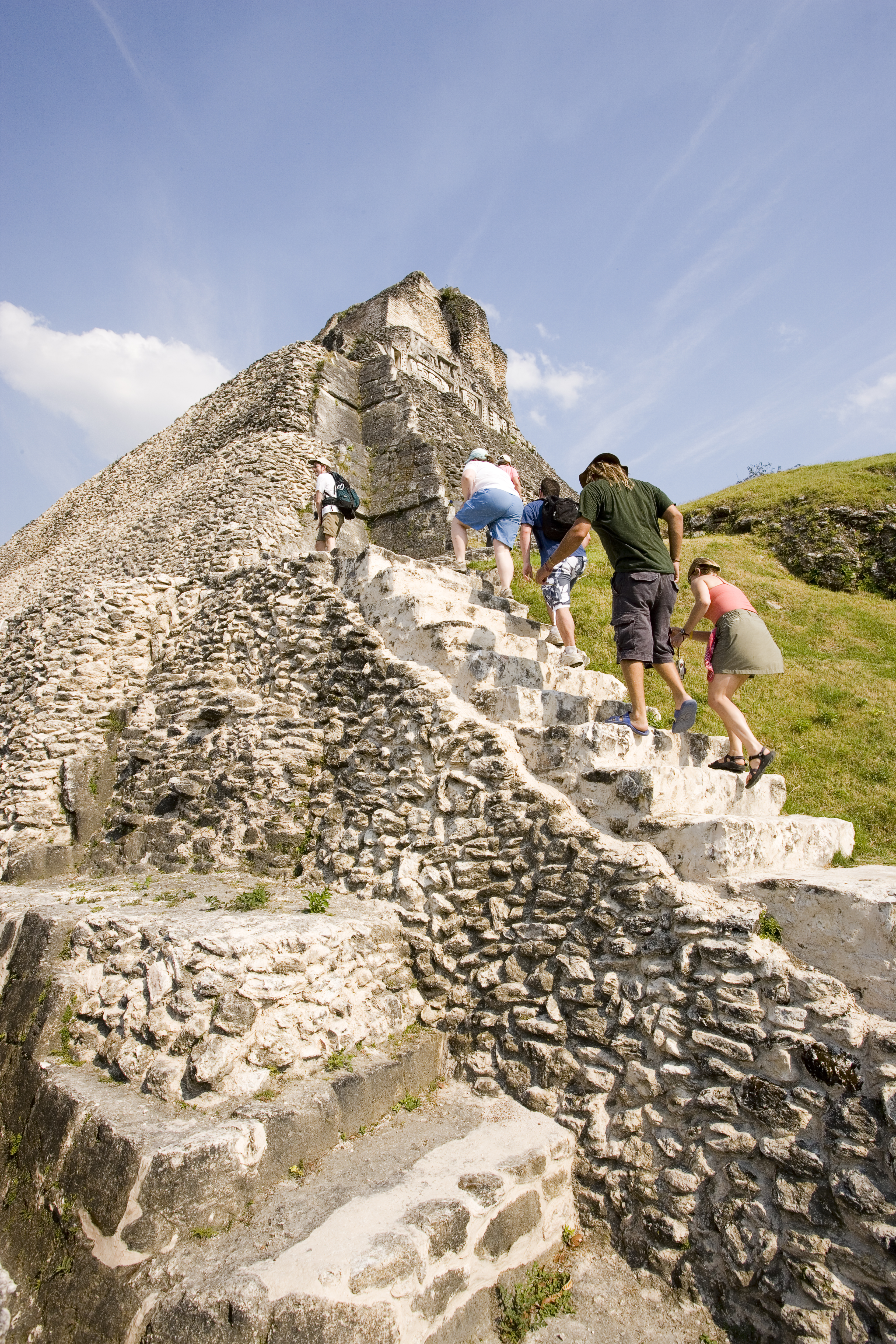Hiking to the top of Xunantunich
