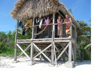 Long Caye cabana, Belize