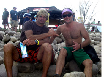 Laird Hamilton and Victor Myers