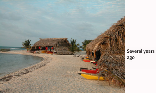 Belize beach before 2010 hurricane season