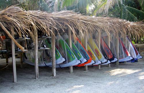 Belize windsurf gear at Glover's Reef
