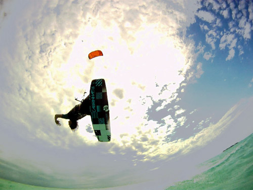 Kitesurfing Glovers Reef Belize