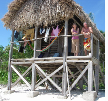 Belize beach hut