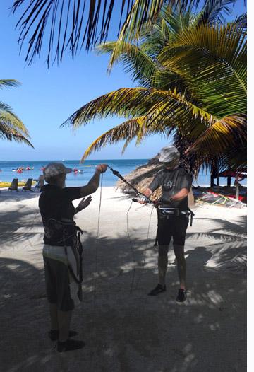 Kitesurfing lessons in Belize