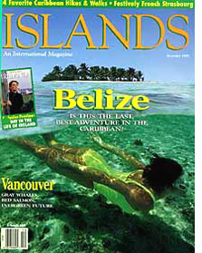 Islands magazine Belize cover