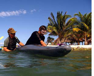 Learn to roll a kayak