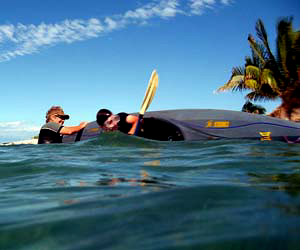 Kayak rolling lessons