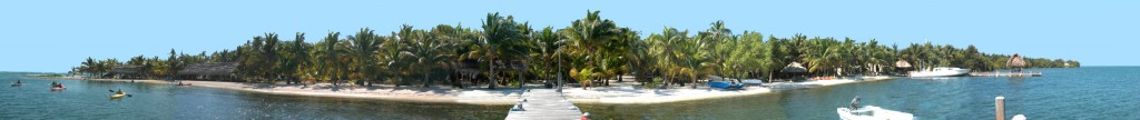 Belize island panorama