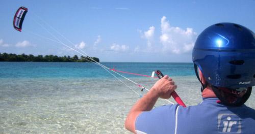 Belize kitesurfing