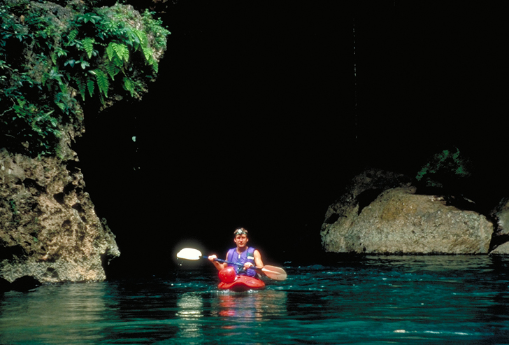 running the Caves Branch River in Belize