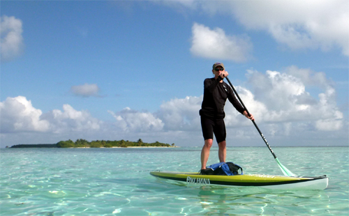 paddleboard cruising at Glover's Reef