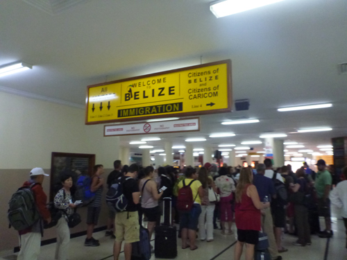 Belize airport arrival