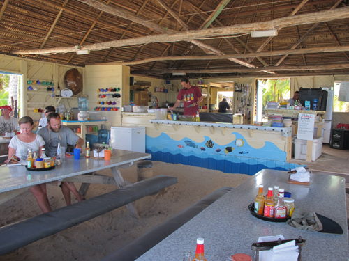 Long Caye, Belize, dining hall