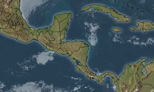 Belize Weather Map