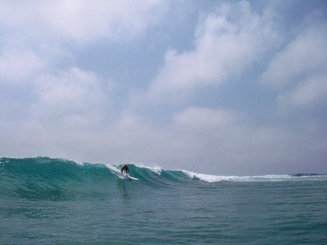 A six foot wave was one of the best surfing days...