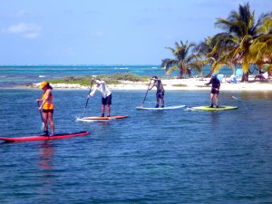 SUP in the Long Caye lagoon