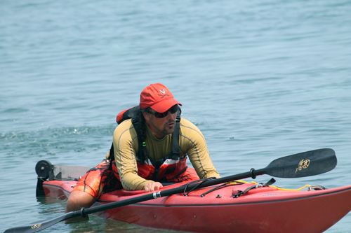 The final demo is how to get back in the kayak unassisted. You need to know how to do this for snorkeling out of the kayaks, something we do every day!