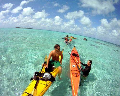 Now you are ready to go snorkeling out of the kayaks!