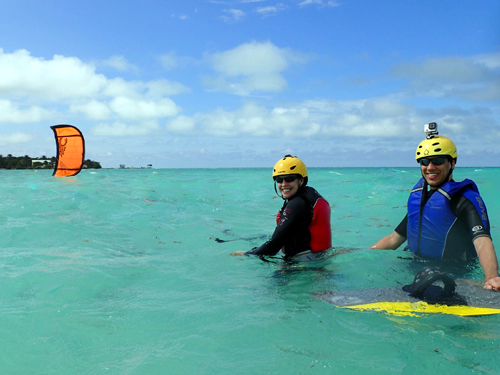kitesurfing lessons at glover's reef belize
