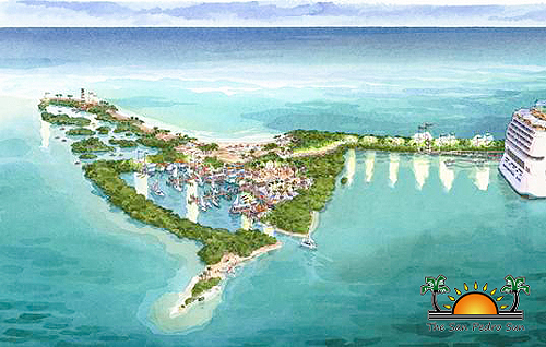 Harvest Caye cruise ship island
