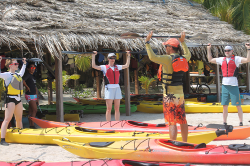 learn to kayak in Belize