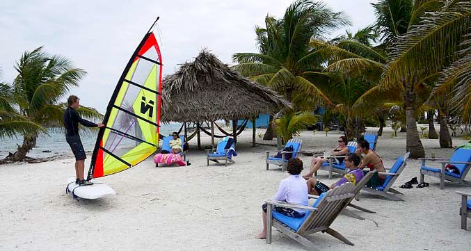 Windsurf lessons in belize