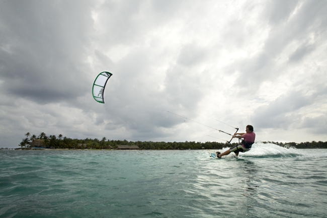Learn to kitesurf at Slickrock's kitesurf school in Belize