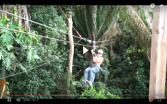 video-Belize zip line