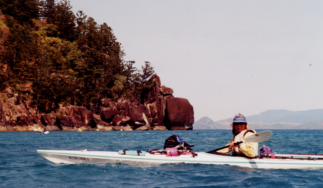 Sea kayaking in the Whitsunday Islands, Great Barrier Reef, Australia