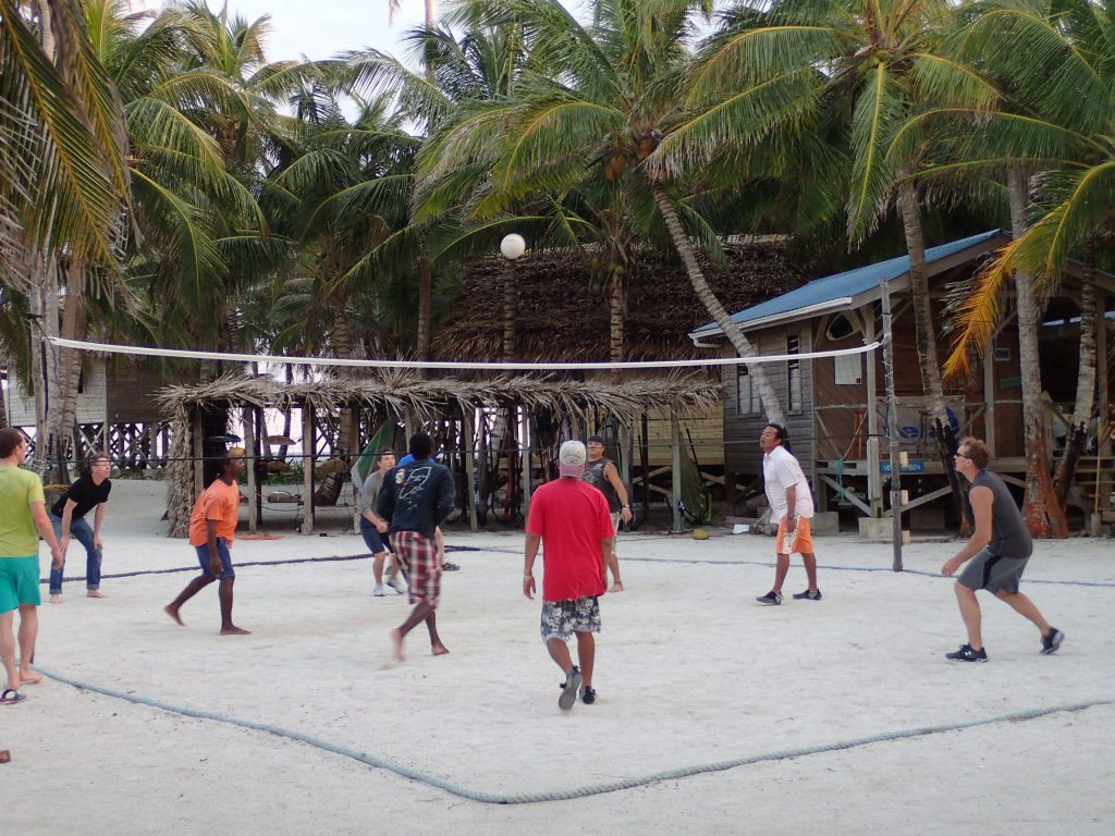 Island volleyball in Belize