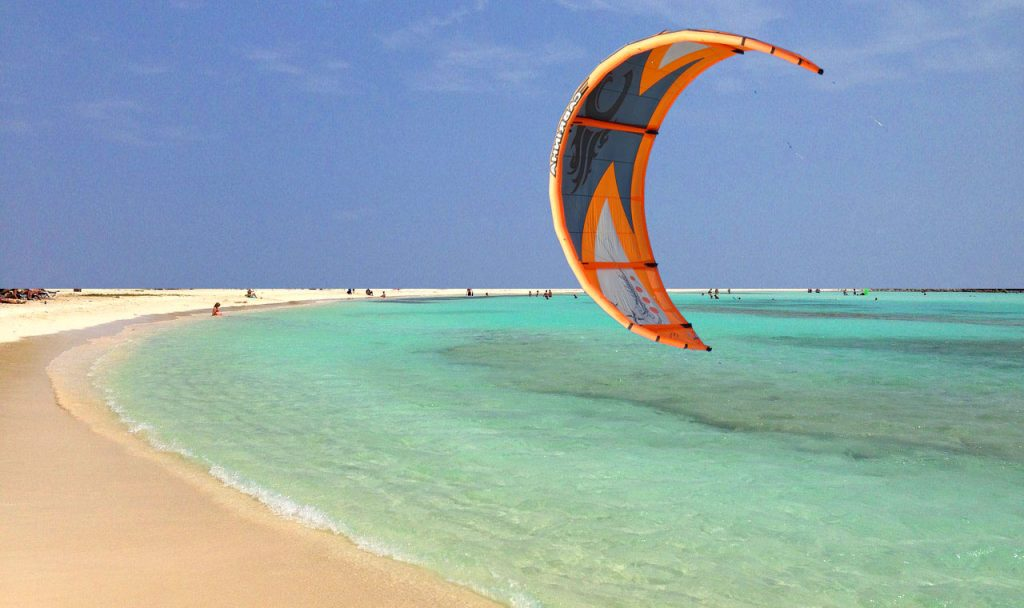 kiteboard water entry