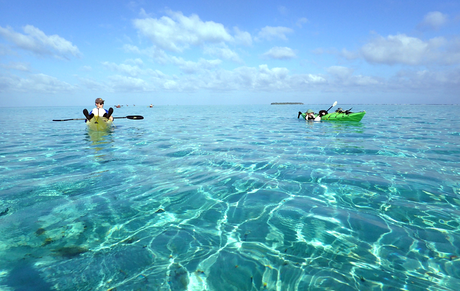 middle caye paddle glover's reef belize